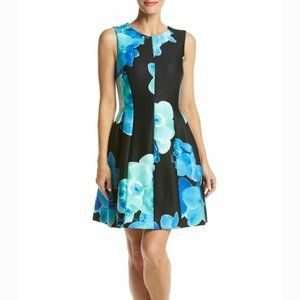 Calvin Klein Floral Fit and Flare Suba Dress 6